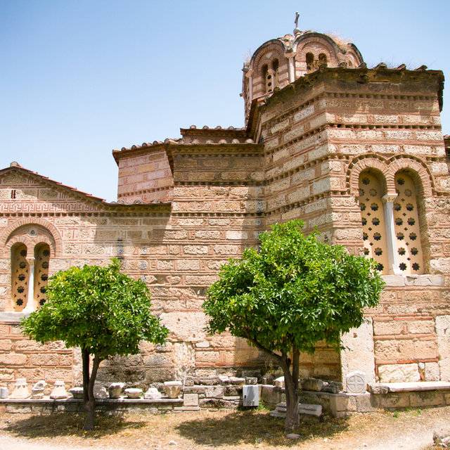 The Byzantine Church of the Holy Apostles at the Ancient Agora of Athens.