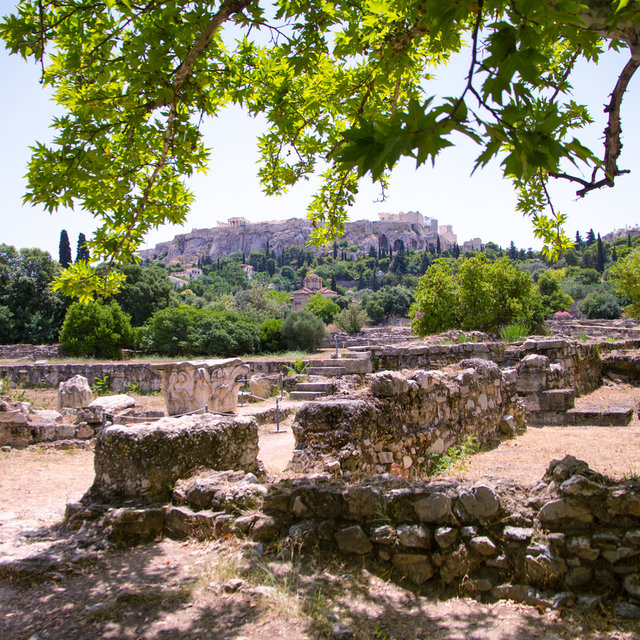 View over the Ancient Agora of Athens.