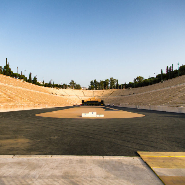 The Panathenaic Stadium where the first modern Olympic Games were hosted.