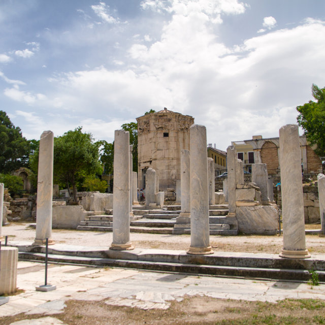 Ruins of the Roman Agora in Athens.
