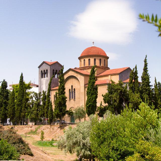 The Holy Trinity Church seen from Kerameikos cemetery.