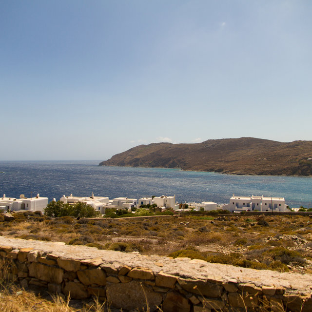 View onto the sea in the south of Mykonos.