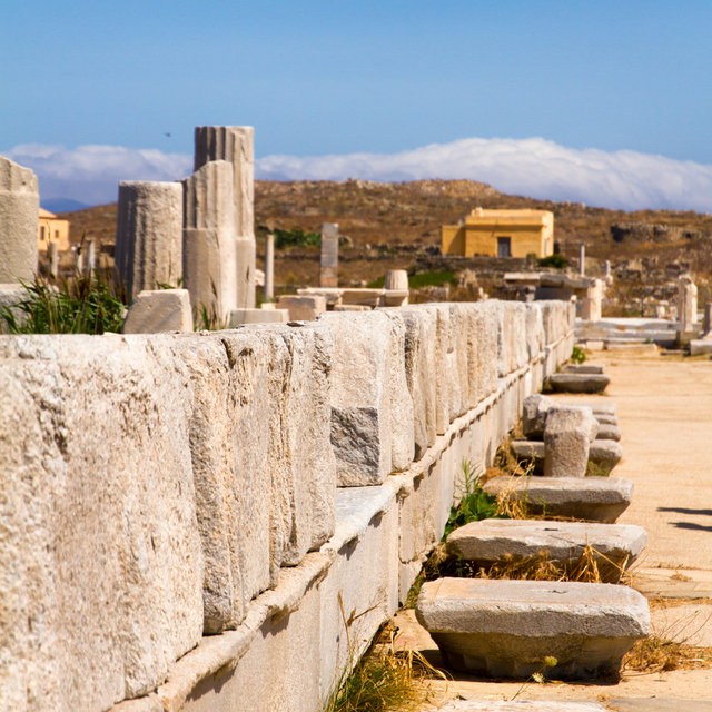 Ruins at the Archaeological Museum of Delos.