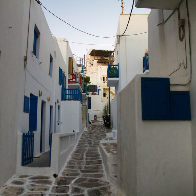 Streets in Mykonos city.