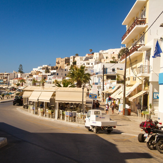 Seaside houses in Naxos.