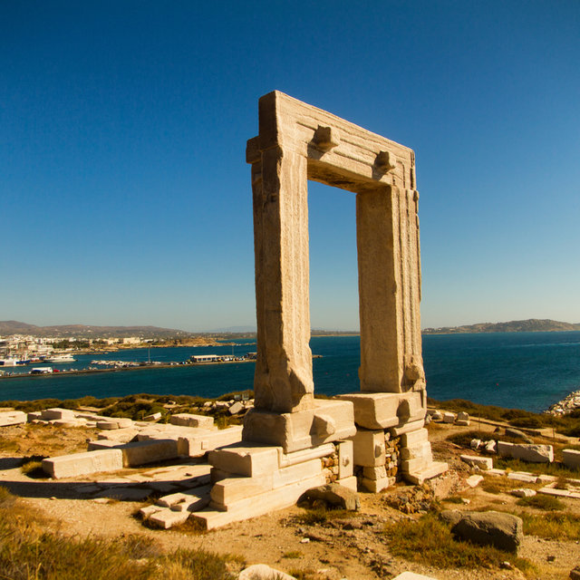 The Portara of the Apollo temple in Naxos.