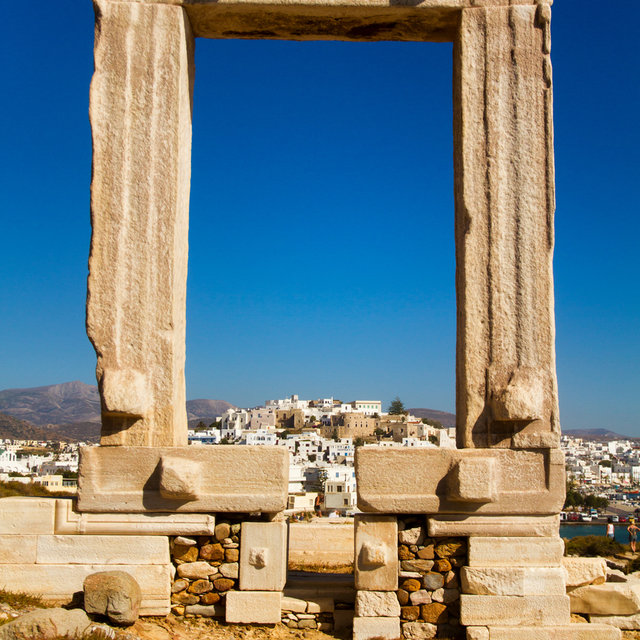 View of Naxos through the Portara.