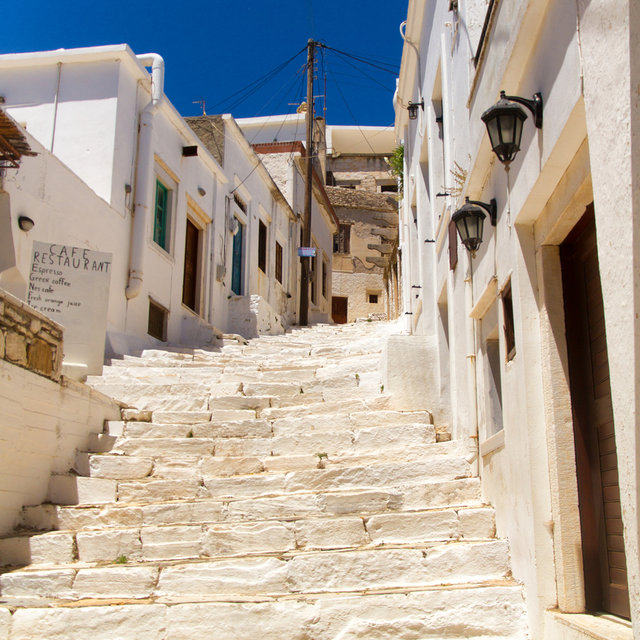Stairs in the village of Apeiranthos.