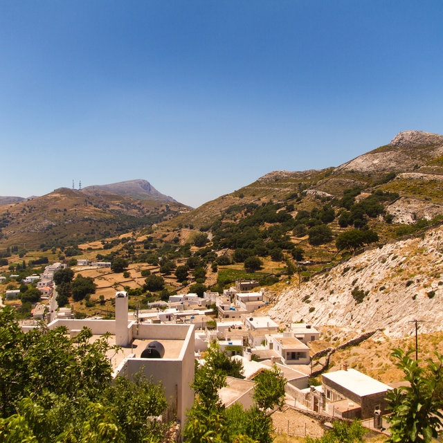 View over the roofs of Apeiranthos.