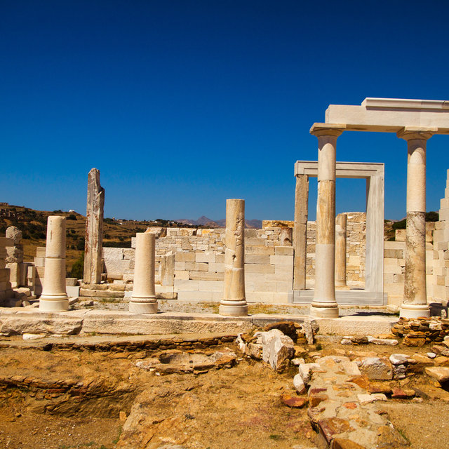 Temple of Demeter on the island of Naxos.