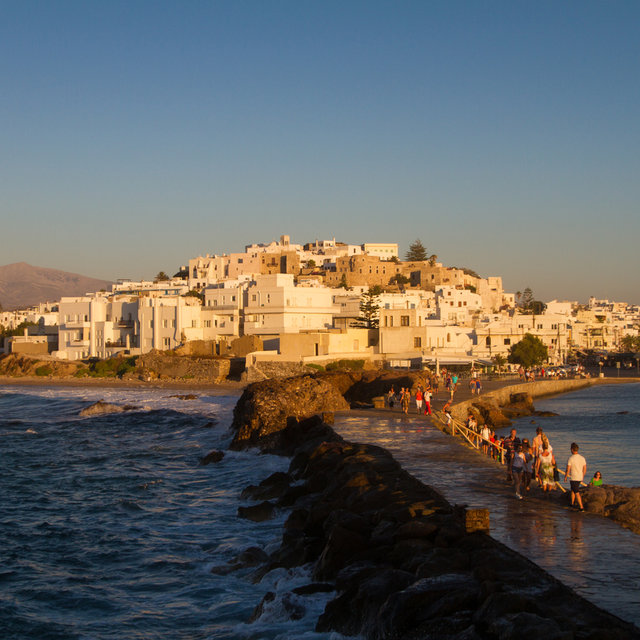 View from the Portara of the Apollo temple towards Naxos.