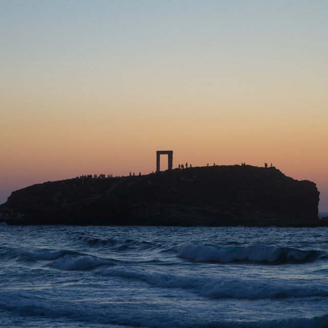 Portara at sundown.