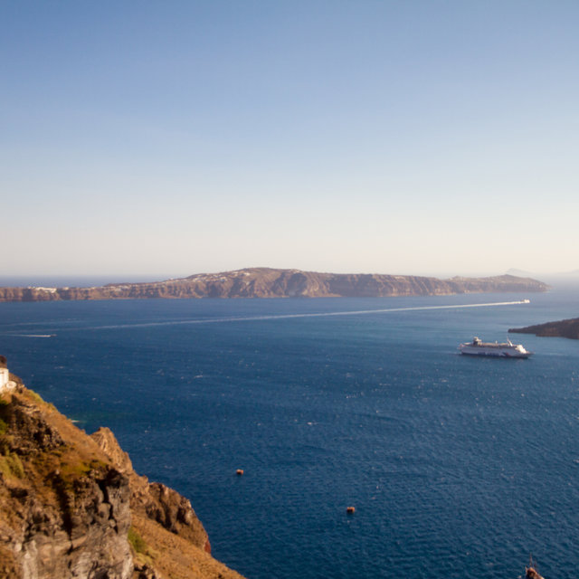 Southern part of Santorini as seen from Firá.