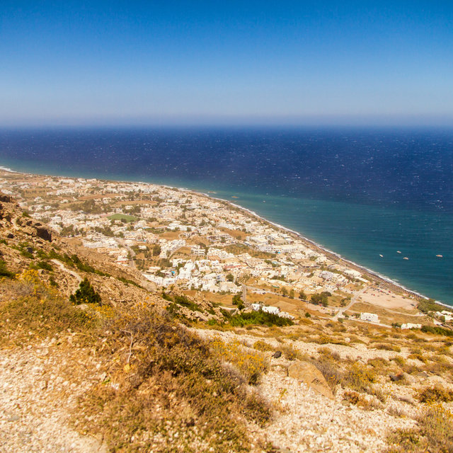 View from Ancient Thera over Kamari.