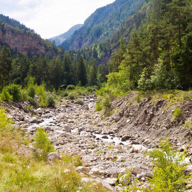 River Lance in Colmars.