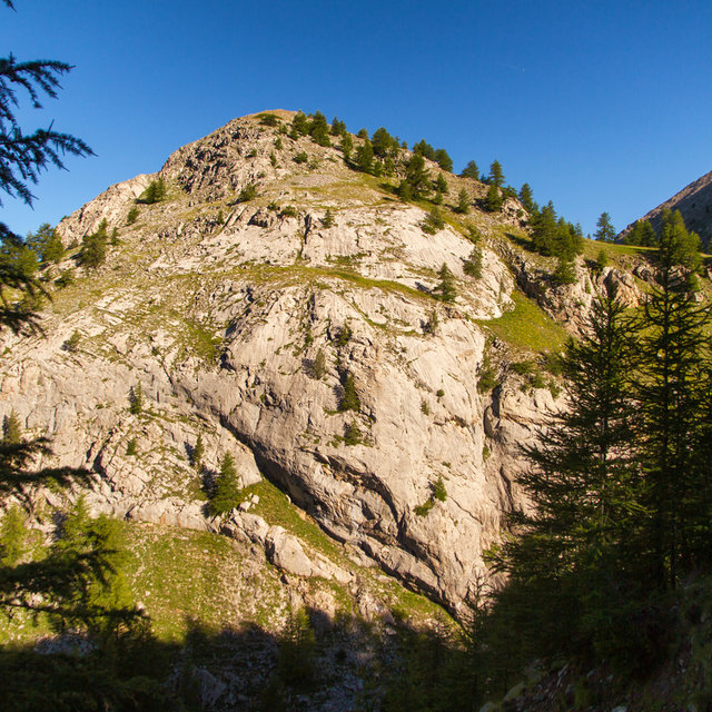 Hill along the hiking track to Mont Pelat.