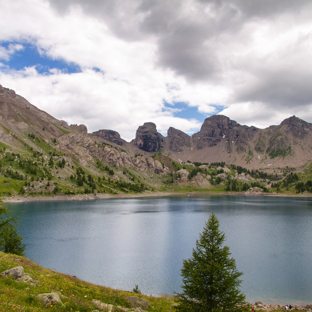 View over the Lac d'Allos.
