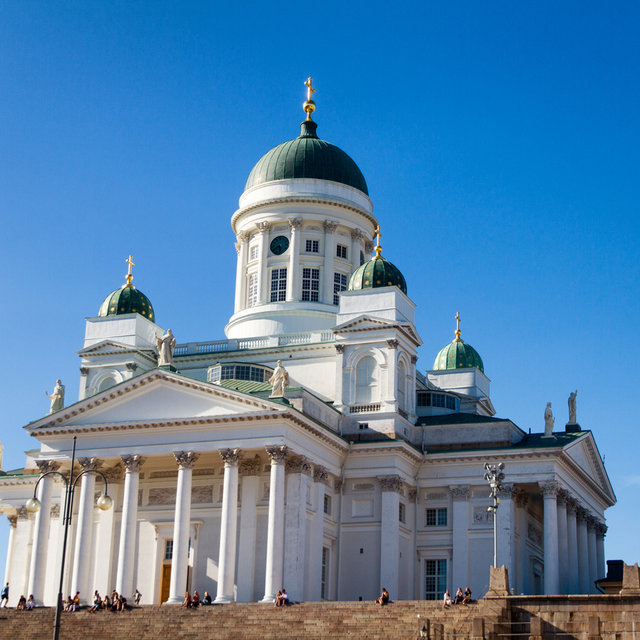 The Helsinki Cathedral seen form the Senate Square.