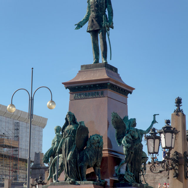 Statue of Alexander II on the Senate Square.
