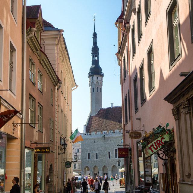 Tallinn Town Hall seen from a side street.