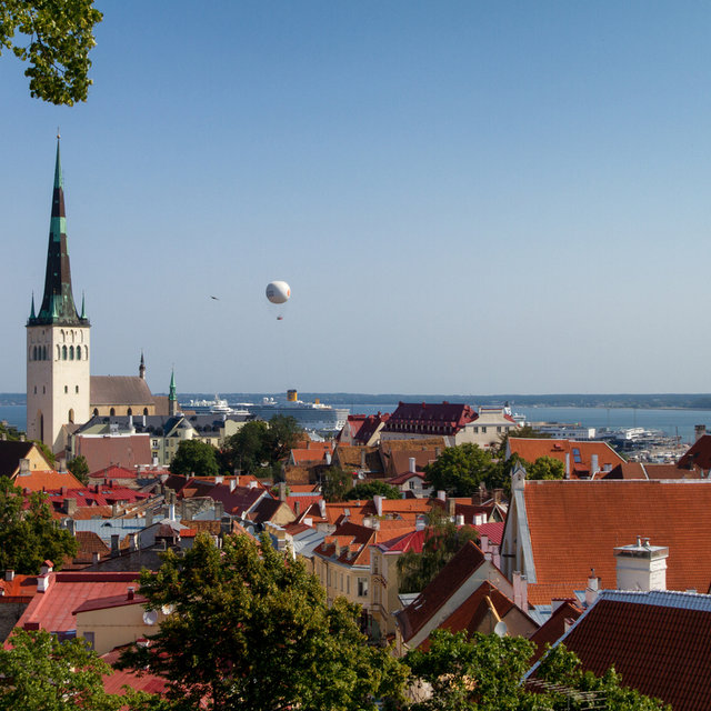 View over the roofs of Tallinn.