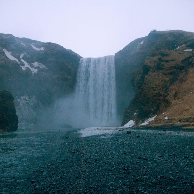 Skógafoss waterfall in Iceland.