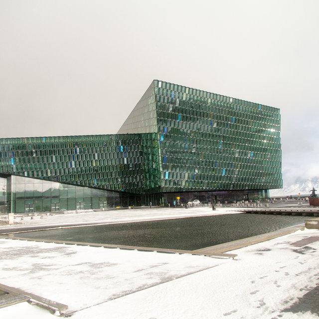 The Harpa concert hall in Reykjavík.