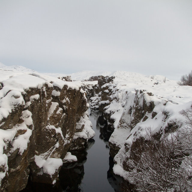 The river Öxará in the Þingvellir national park.