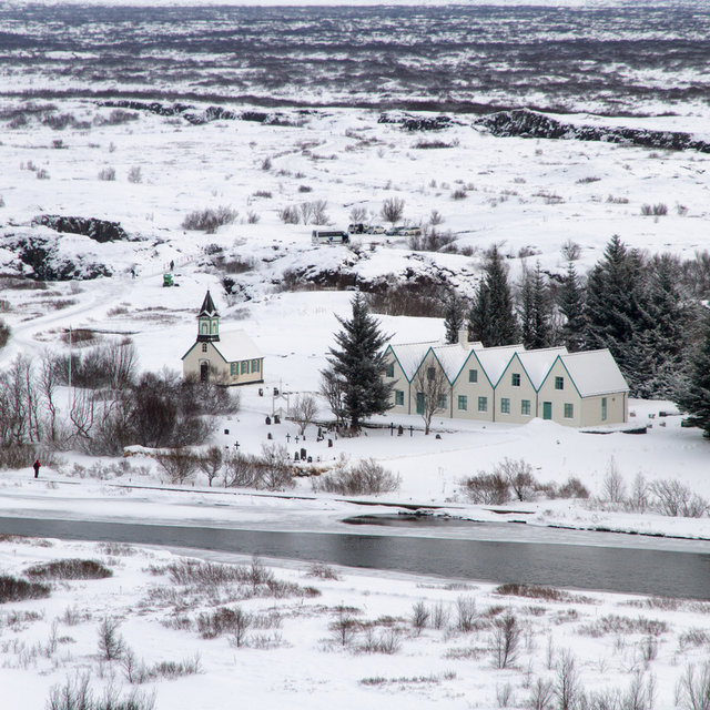 A small church at Þingvellir national park.