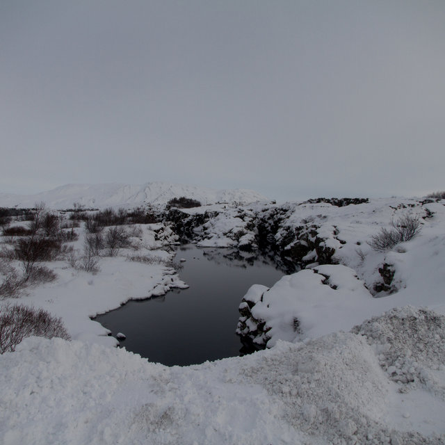 A small lake at Þingvellir national park.