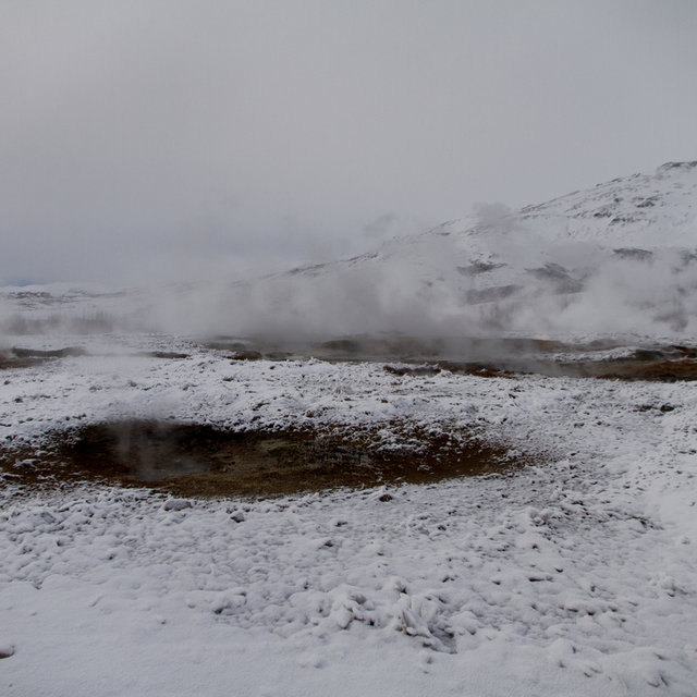 Hot springs in the Geysir area.