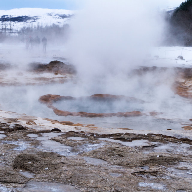Strokkur geyser at rest.