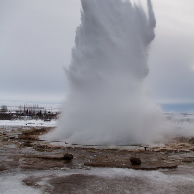 Eruption of the geyser Strokkur.
