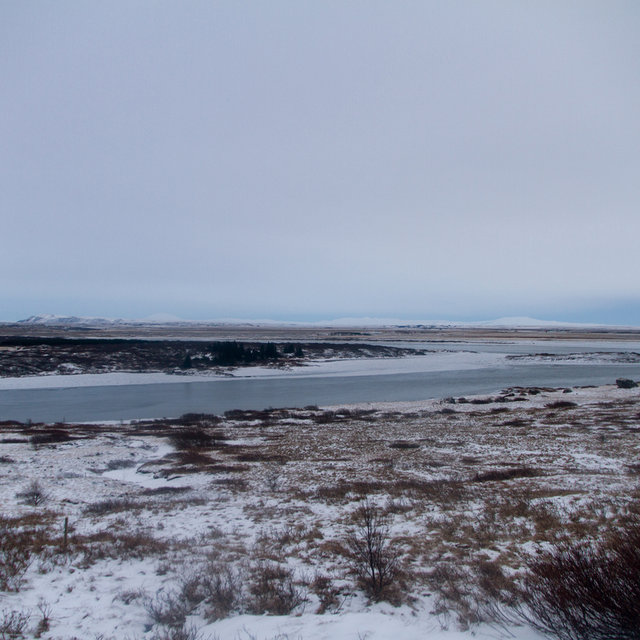View of the river Hvítá upstream of Gullfoss.