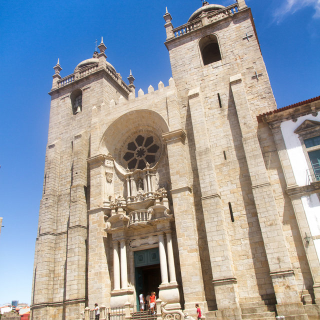 The front and towers of the Porto Cathedra.