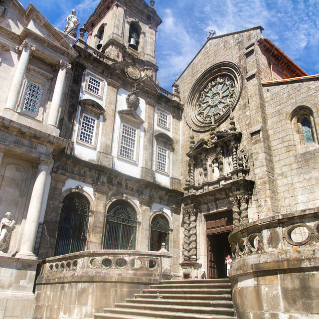 Entrance of the Church of São Francisco in Porto.