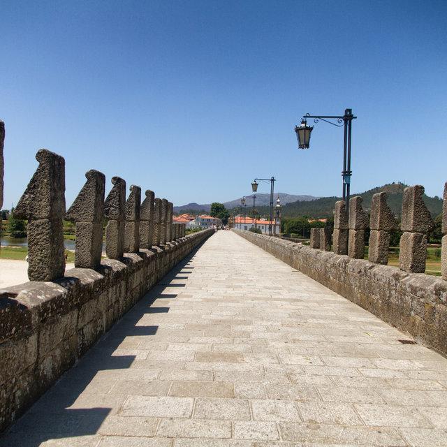 View along the Limia bridge in Ponte de Lima.