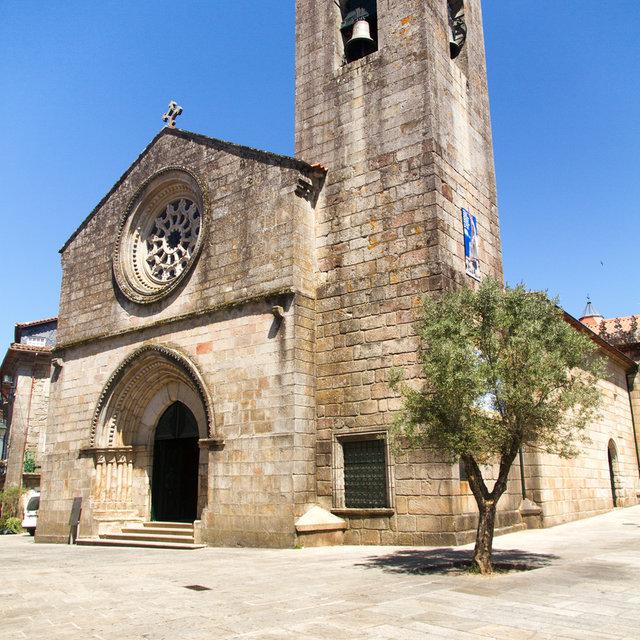 Tower and entrance of the Igreja Matriz de Ponte de Lima.