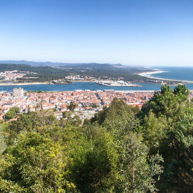 View over Viana do Castelo from the Church of Santa Luzia.