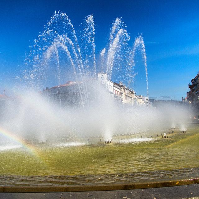 A fountain on the Praça da República in Braga.