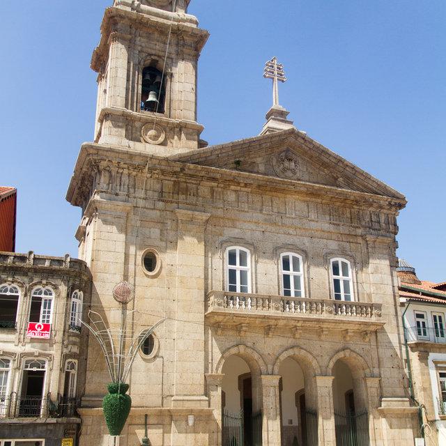 The front of the Basílica de São Pedro in Guimarães.