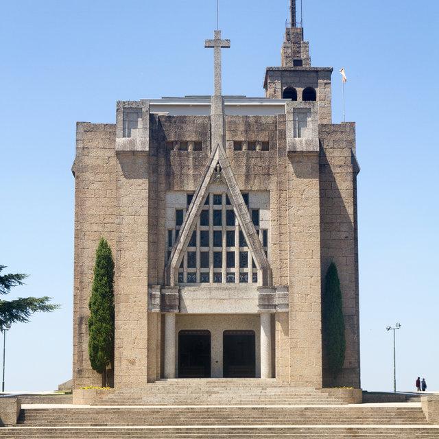 View of the Santuário da Penha on Mount Penha in Guimarães.