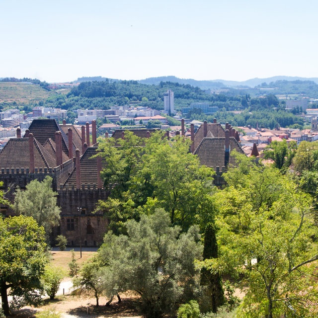 View from the Guimarães Castle towards the Palace of the Dukes of Braganza.