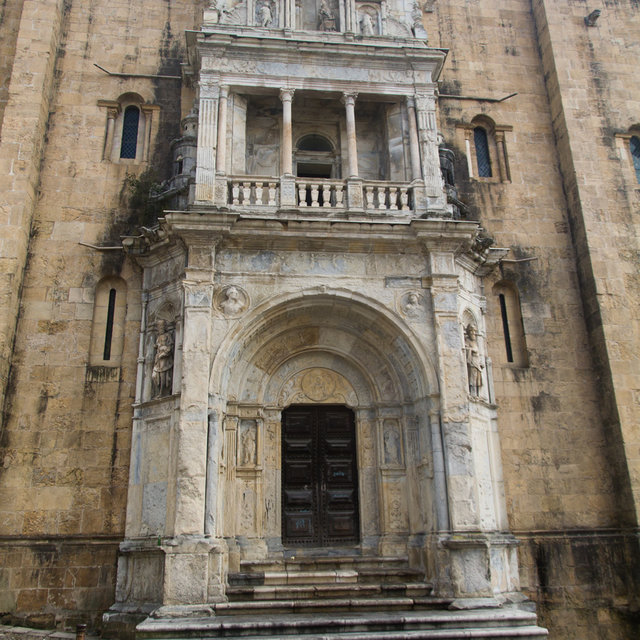 The Porta Especiosa on the north side of the Old Cathedral of Coimbra.