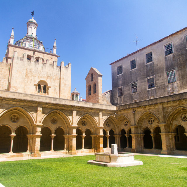 The courtyard of the Old Cathedral of Coimbra.