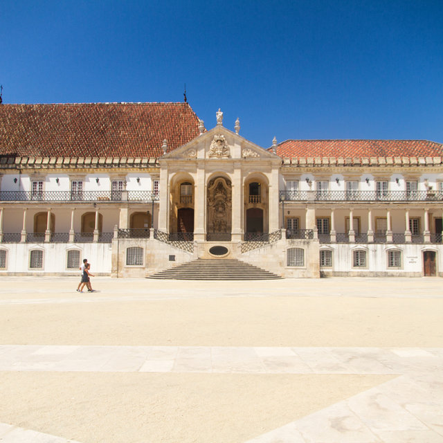 View of the courtyard of the former royal palace, now the University of Coimbra.