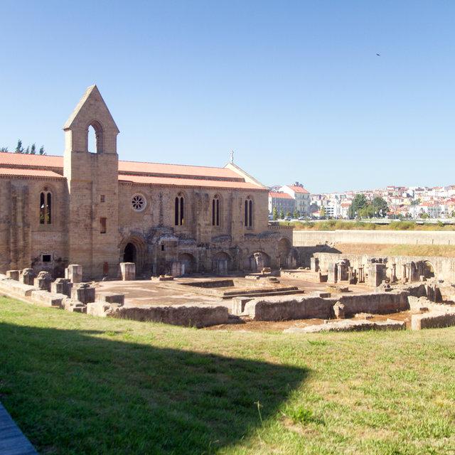 View over the ruins of the Monastery of Santa Clara-a-Velha.