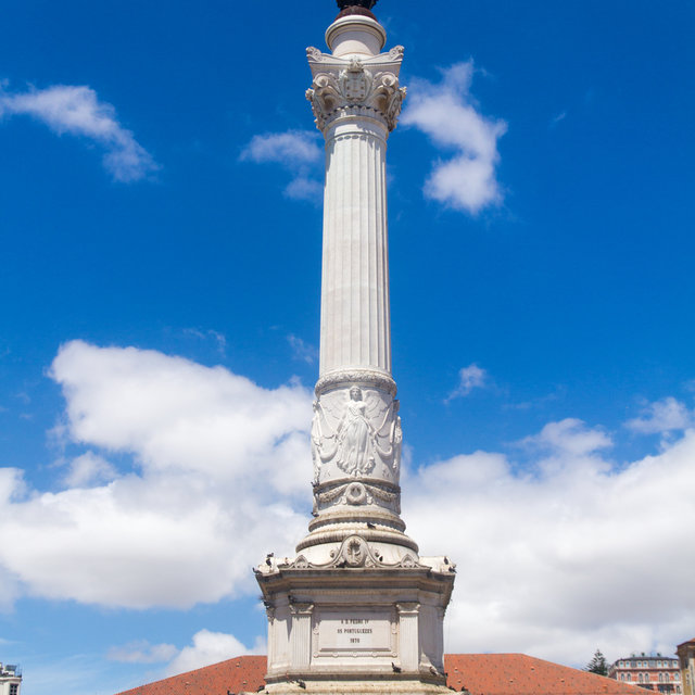 The Column of Pedro IV in the centre of Rossio Square in Lisbon.