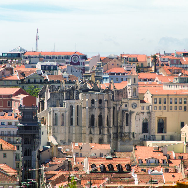 View on to the Convent of Our Lady of Mount Carmel in Lisbon.