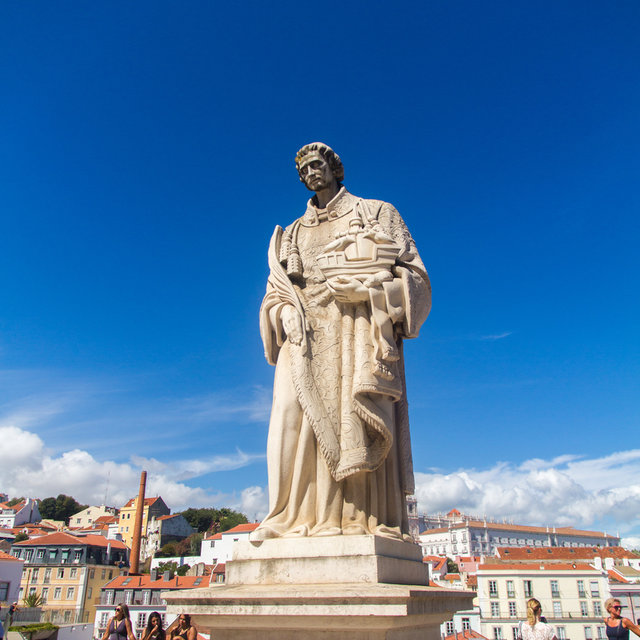 A Statue of Saint Vincent of Saragossa in Lisbon.